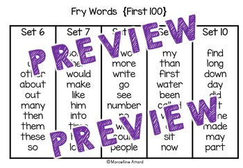 FRY SIGHT WORDS FIRST 100 ACTIVITIES KINDERGARTEN (ROLL AND READ)