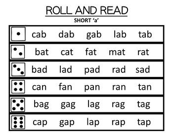 ROLL AND READ PHONICS REVIEW (sped/autism/elementary)