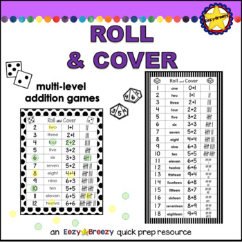 ROLL & COVER addition dice games
