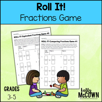 ROLL IT! NO PREP Math Review Game: Fractions {Grades 4-6}