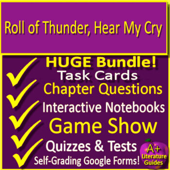 Roll of Thunder, Hear My Cry Novel Study Print + Paperless w/ Self-Grading Tests