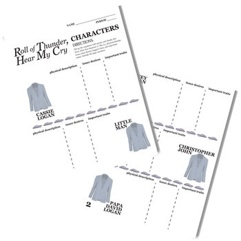 ROLL OF THUNDER, HEAR MY CRY Characters Organizer (by Mildred Taylor)