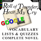 ROLL OF THUNDER, HEAR MY CRY Vocabulary List and Quiz (Created for Digital)