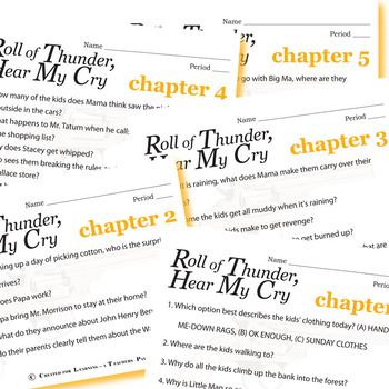 ROLL OF THUNDER, HEAR MY CRY 12 Pop Quizzes Bundle