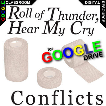 ROLL OF THUNDER, HEAR MY CRY Conflict Graphic Organizer (Created for Digital)