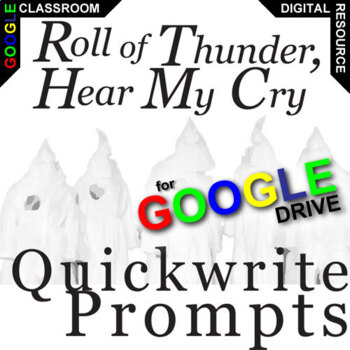 ROLL OF THUNDER, HEAR MY CRY Journal - Quickwrite Writing (Created for Digital)