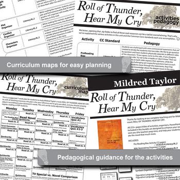 ROLL OF THUNDER, HEAR MY CRY Unit Plan Novel Study (Print & Digital)
