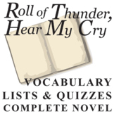 ROLL OF THUNDER, HEAR MY CRY Vocabulary Complete Novel (150 words)