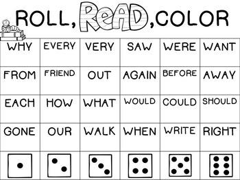 ROLL, READ, COLOR/DOT