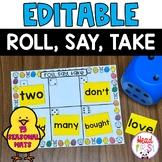 ROLL SAY TAKE Editable ELA or MATH Center | Fall Center