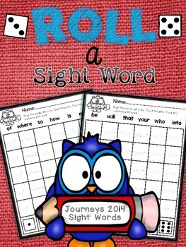 ROLL a Sight Word {Journeys 2014}
