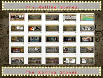 ROLLING STONES: 25 slides with text, hyperlinks, primary sources & handouts