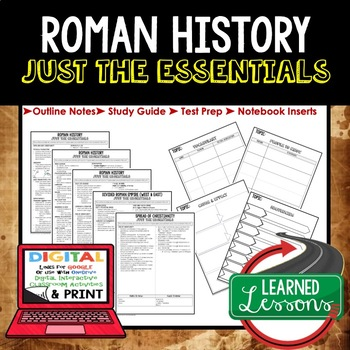 ROMAN HISTORY Outline Notes JUST THE ESSENTIALS Unit Review, Outline, Test Prep
