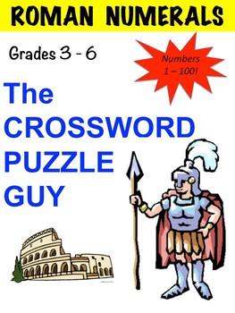 ROMAN NUMERALS CROSSWORD PUZZLE