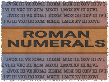 ROMAN NUMERALS WORKSHEETS