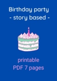 ROMANIAN - Story-based Worksheet - Free Time, Games, Birthday