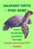 ROMANIAN - Story-based Worksheet - Galapagos Turtle