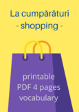 ROMANIAN - Vocabulary - Shopping La Cumpărături