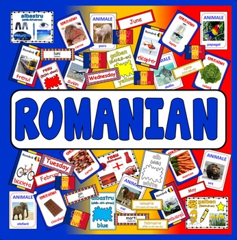 ROMANIAN TEACHING RESOURCES display posters flashcards colours food LANGUAGE