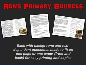 ROME Primary Source: The COLOSSEUM (Livy-Cicero-Tacitus) w