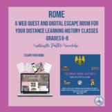 ROME: WebQuest & Digital Escape Room Bundle (6-8)