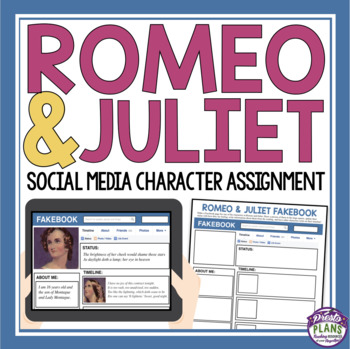 ROMEO AND JULIET ASSIGNMENT: FACEBOOK PAGE