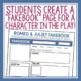 ROMEO AND JULIET ASSIGNMENT: SOCIAL MEDIA PAGE #SecondaryShakeSale