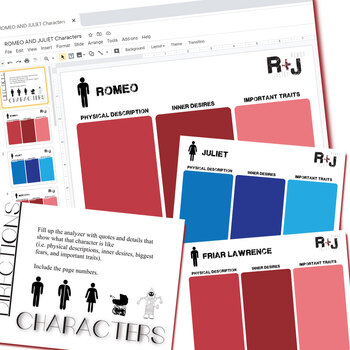 ROMEO AND JULIET Characters Organizer (Created for Digital)