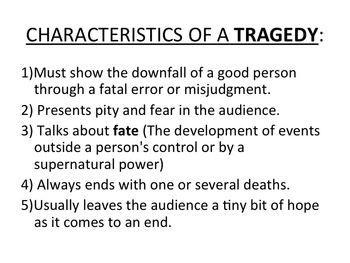 the elements of tragedy