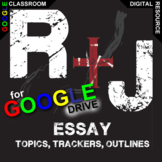 ROMEO AND JULIET Essay Prompts and Speech w Rubrics (Creat