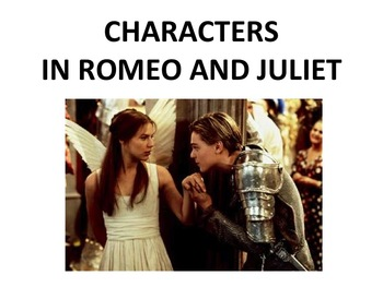 ROMEO AND JULIET POWER POINT- CHARACTERS DESCRIPTIONS AND