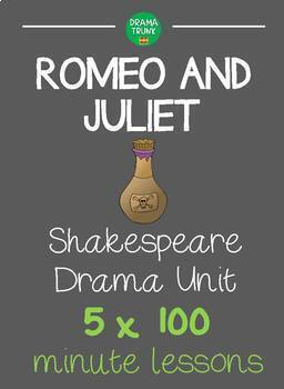 ROMEO AND JULIET Shakespeare Drama Unit (5 x 100 min lesso