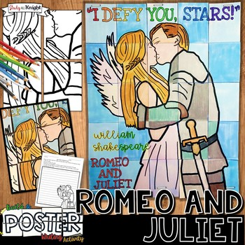 ROMEO AND JULIET, WILLIAM SHAKESPEARE, COLLABORATIVE POSTER, WRITING ACTIVITY