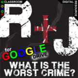 ROMEO AND JULIET What's the Worst Crime? (Created for Digital)