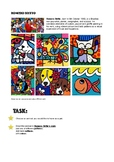 ROMERO BRITTO GRAFFITI ART WORKSHEET