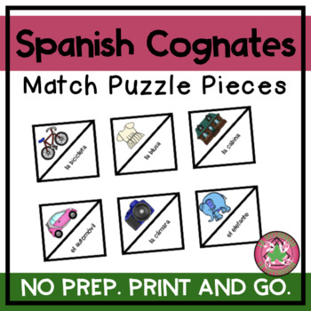 ROMPECABEZAS | Spanish Cognates Puzzle