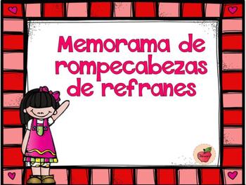 ROMPECABEZAS DE REFRANES