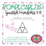 ROMPECABEZAS - Spanish Numbers 0-31 (Triangle)