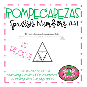 ROMPECABEZAS - Spanish Numbers 0-31 (Triangle)