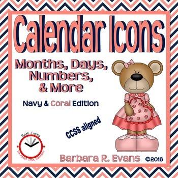 ROOM DECOR BUNDLE: Coral & Navy Edition