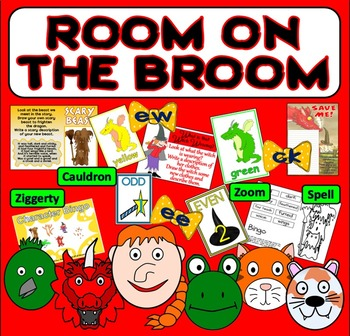 ROOM ON THE BROOM STORY RESOURCES LITERACY READING EYFS KS 1-2