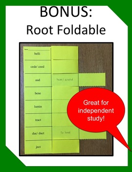 ROOTS          Lesson, PPT, Worksheet, and Activity
