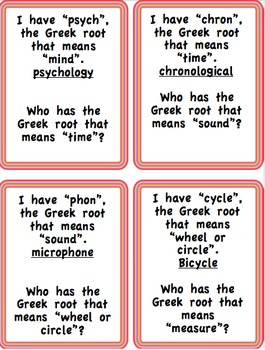 I have--Who has game for Greek and Latin Roots