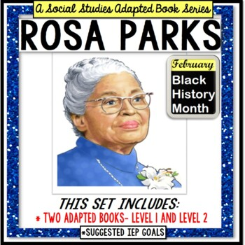 ROSA PARKS Black History Month ADAPTED BOOK for Special Education and Autism