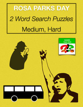 ROSA PARKS DAY Word Search - Black History Month - 2 level