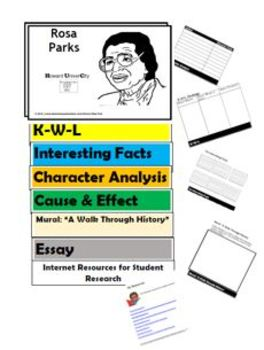ROSA PARKS  Flip Book - Research Project