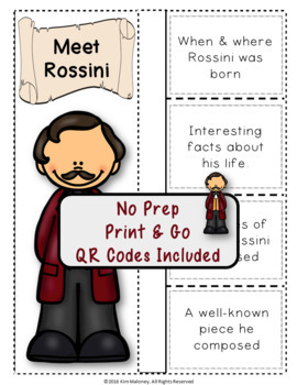 Music Composers: ROSSINI Foldables: Music Listening Activities