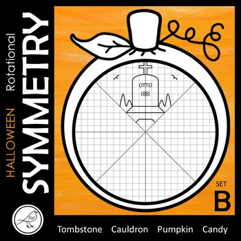 ROTATIONAL SYMMETRY / RADIAL SYMMETRY  -  HALLOWEEN – SET B