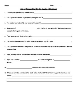 ROTHMY Chapter 9 Worksheet