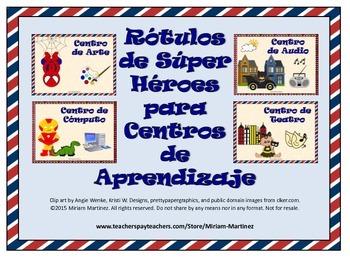 ROTULOS O LETREROS PARA CENTROS CON SUPER HEROES / SUPER HERO SPANISH SIGNS